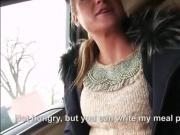 Pretty teen babe gets pounded in the car