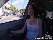 Lovely pretty chick Kassondra trades sex for a ride