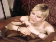Blonde slut gets fucked and face-jizzed by hard black cock