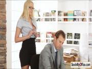 Secretary Vanessa gives boss a surprise