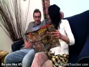 Seductive teen coed isn't really good in studying but her juicy twat helped her