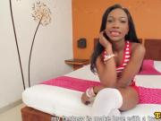 Ebony bubblebutt tgirl beauty doggystyled