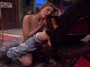 Young tall redhead does anal in the bar