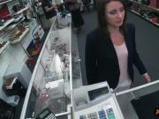 Sexy brunette wifey fucked by pawn dude