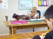 Huge tits teacher Michelle Thorne seduces her student
