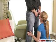 Sexy teen girl learned how to fuck good