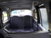 Sexy blonde got cumshot in taxi