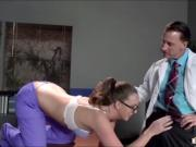 Naughty nurse Maddy Oreilly sucks and fucks the doctors cock