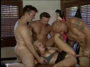 Naughty blonde takes it from behind while giving a blow job