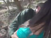 Pale cutie gal and border patrol agent banging hard