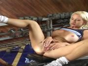 Model looking blonde goddess gets her pussy licked and fucked by lucky stud