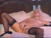 Hairy guy gets his thick cock deep-throated by blonde babe