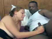 Monster black cock gets sloppy and slow deepthroat from brunette