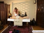 Asian teen got cumload from her masseur
