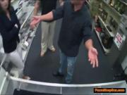 Brunette MILF blows Pawnshop owner