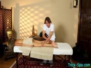 Massaged brunette teen