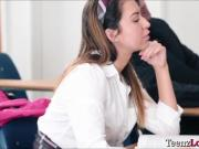 Teen Melissa takes her instructor into her naughty side