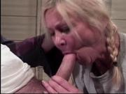 Mature babe enjoys tongue in her pussy