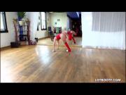 Attractive fat arse ballerina Abella Danger gets bunged