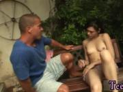 Devinn lane sex Miho gets plumbed in the backyard