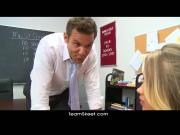 InnocentHigh Smalltits blonde teen Britney Young fucked teacher