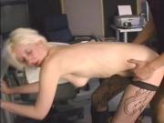 Big dick horny guy blows cum on blonde's face after fucking her wet pussy