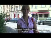 Czech amateur ballerina flashing and fucking in public