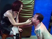 Stud plays submissive role to tranny