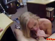Finelooking pawnshop bimbo banged for cash