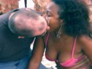 Natural body black slut has wild 69 session with white cock