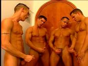 Four studs who love cocks and toys in their asses