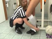 Puremature blonde milf Brazilian player poking the referee