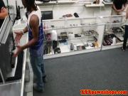 Pawnshop cuckolding action with tattooed gf