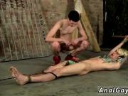 Pics of gay bondage to a stool His assets is exposed, prepared for the
