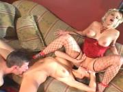 Lusty sisters fuck with the same guy