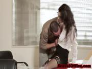 Classy closeup officesex with hot secretary