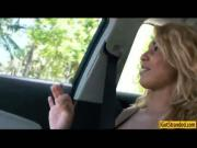 Sexy latina Valentina fucked in the car