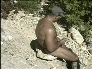 Hot big dick gay dudes from Hungary love to stroke their fat rods outdoors