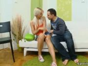 Violetta is a sexy blonde virgin who has never had sex before today with her man