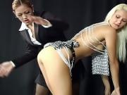 Bondage slave fucked with toys