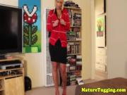 Mature handjob milf stripping off her clothes