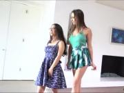 Skanky teen Ashley touches and sucks Serenas sweet tits