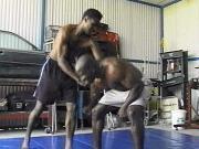 Ebony wrestle team training