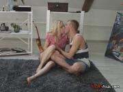 Blondie Ira Loves Oral Sex With Hung Mailman