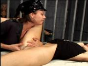 Lusty MILF in police outfit has wild lesbian fun with blond prisoner