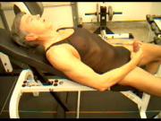 Fitness trainer Dick Dodd demonstrates penis ejaculation big cum shot