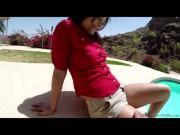 Hottie brunette Natalie Monroe gets pussy penetrate filmed in POV