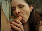 Evan fucks beautiful brunette and fills her mouth