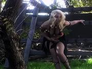 Pretty c-cup blonde sucks dude's cock then rides him cowgirl-style