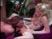 Hot blonde haired girl gets drilled in the costume room